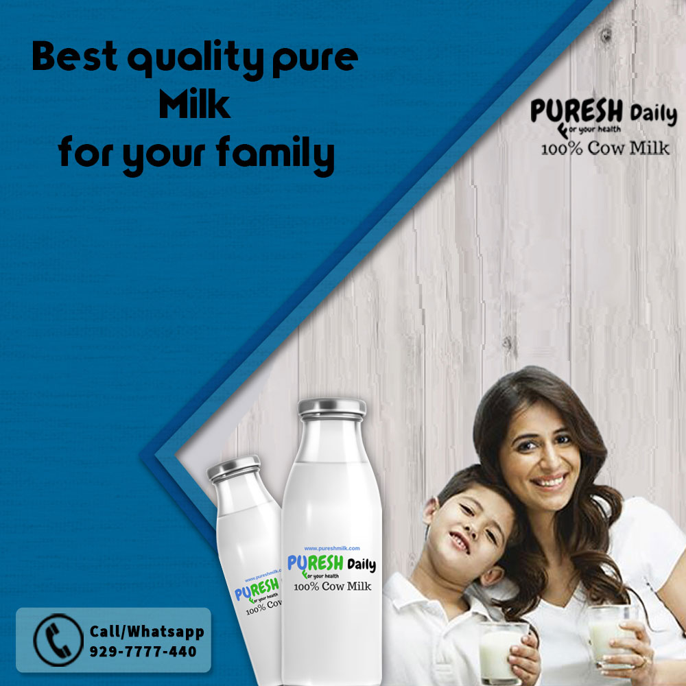 Puresh Daily - 100% Pure and Organic Cow Milk with Home Delivery